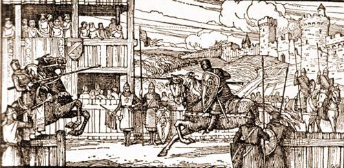 les armées s'en viennent en ville... Il va falloir se préparer! dans la cour St-Michel untournoiauxiipluspetit